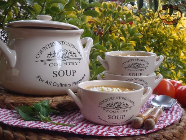 Sopa de tomate y calabacín 1