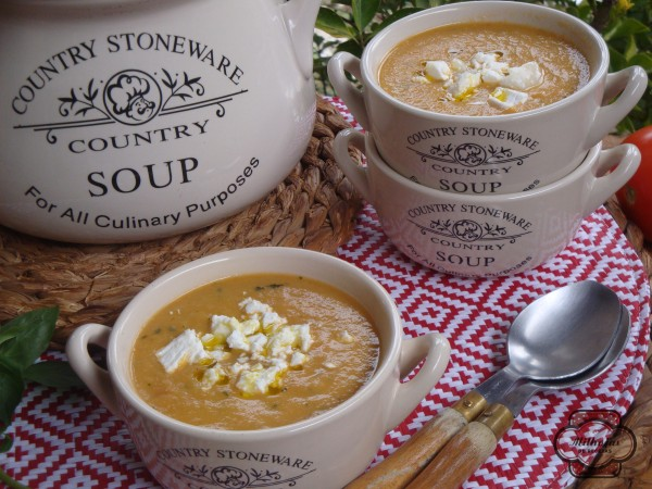 Sopa de tomate y calabacín 2