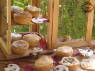 Pastelitos de pollo y champiñones