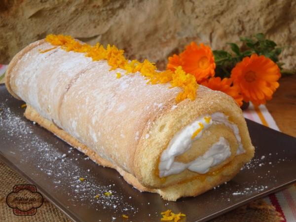Rulo bizcocho orange curd 1