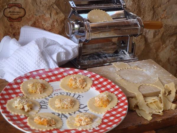 Pasta fresca rellena calabaza 1